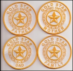 Gold star patch family (250x246)