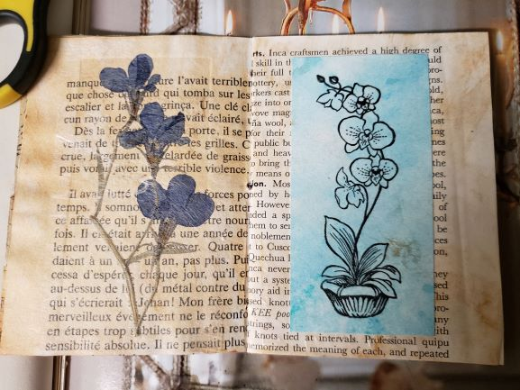 Diogenes Lantern resized lotus stamped painted pressed forget me nots 20200825_051132